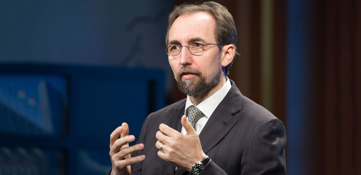 The  UN High Commissioner for Human Rights, Zeid Ra'ad Al Hussein.