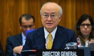 Le Directeur général de l'AIEA, Yukiya Amano. Photo AIEA/Dean Calma