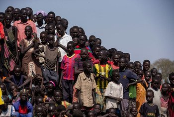 Niños albergados en el Centro de Protección a Civiles de la UNMISS en Bentiu, Sudán del Sur. Foto: ONU/JC McIlwaine