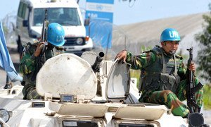 UN Operation in Côte d'Ivoire (UNOCI) peacekeepers.