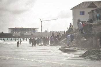 Lido beach in Mogadishu, Somalia.