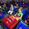 Primer día de clases en la escuela primaria de Nazem Atrash, en Homs, Siria. Foto:  UNICEF/UNI198153/Sanadiki