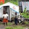 Children at a displacement camp in Goma, North Kivu, Democratic Republic of the Congo (DRC).