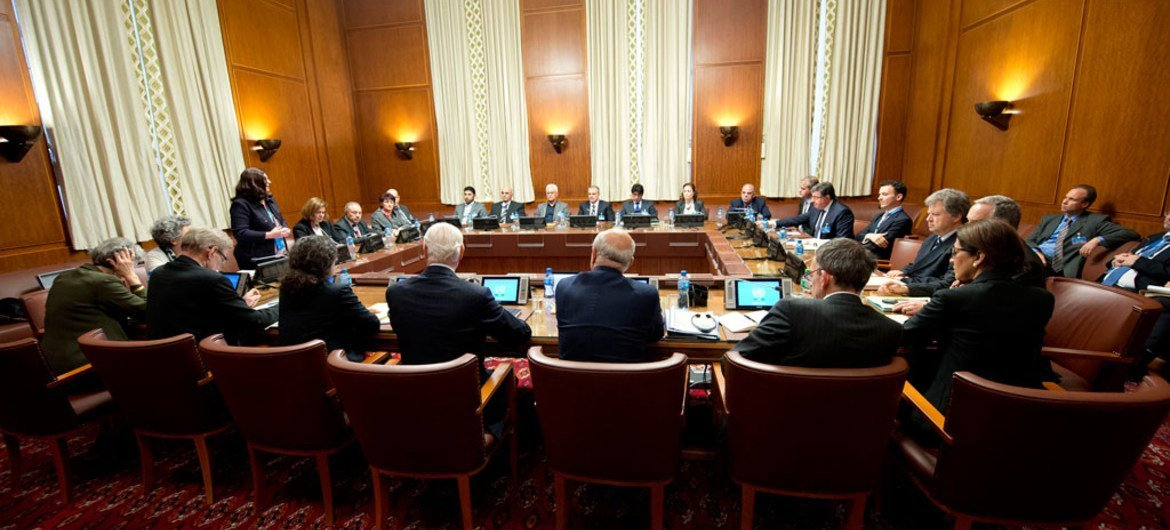 United Nations mediator and the opposition High Negotiations Committee (HNC) at the intra-Syrian talks in Geneva.
