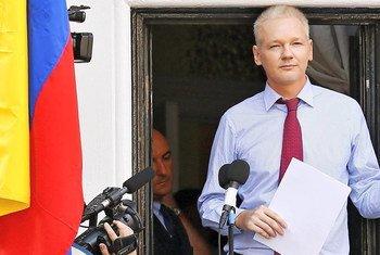 El fundador de WikiLeaks, Julian Assange, estuvo asilado siete años en la embajada de Ecuador en Londres. Foto: captura de video Alto Comisionado para los Derechos Humanos