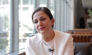 UN Chief Information Technology Officer Atefeh Riazi sits down for an interview with the UN News Centre in New York. (Video screen grab)