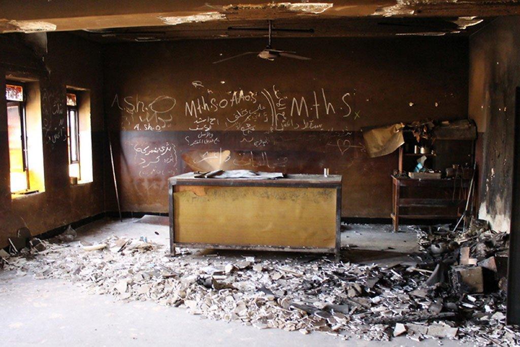 فصل دراسي مدمر في محافظة نينوى بالعراق. UNICEF/UNI199916/Jemelikova