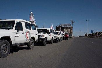 Entrada de un convoy humanitario a Siria. Foto: PMA