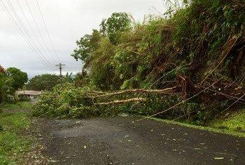 Category 5 Tropical Cyclone Winston caused widespread destruction in Tamavua, Suva, Fiji.