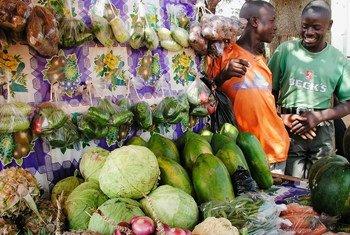 Sokoni mjini Kampala Uganda