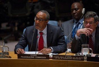 联合国建设和平委员会现任主席、肯尼亚常驻联合国代表卡茂大使。联合国图片/Rick Bajornas