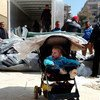 From 21-24 February 2016, UNRWA distributed 19,160 thermal blankets to approximately 5,700 Palestinian refugee and other civilian families from the besieged and hard to reach Syrian communities of Yarmouk, Yalda, Babila and Beit Saham.