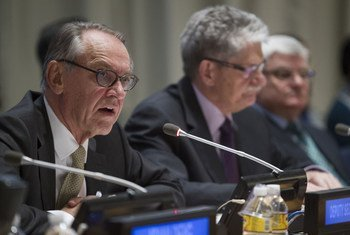 Deputy Secretary-General Jan Eliasson addresses the General Assemblys Thematic Panel entitled, From commitment to implementation: Ten years of the responsibility to protect.