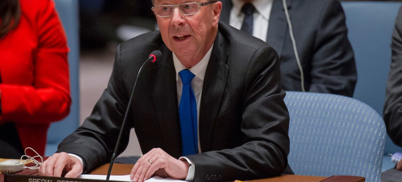Le Représentant spécial du Secrétaire général pour la Libye, Martin Kobler. Photo ONU/Rick Bajornas