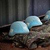 联合国维和人员的蓝色头盔。