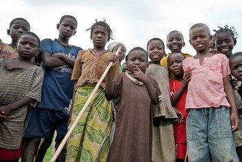 أطفال في جمهورية أفريقيا الوسطى.