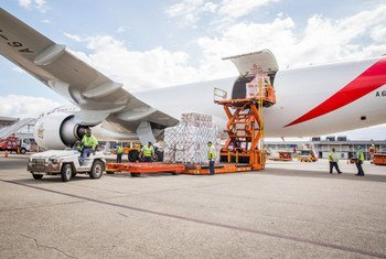 Emergency supplies for some 350,000 Fijians, including 120,000 children, affected by Cyclone Winston, were flown in by UNICEF from its global supply hub in Copenhagen, Denmark.