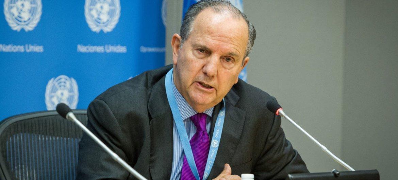 Le Rapporteur spécial sur la torture, Juan E. Mendez. Photo ONU/Loey Felipe