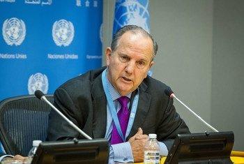 联合国酷刑和其他残忍、不人道或有辱人格的待遇或处罚问题门德斯资料图片。联合国图片/Loey Felipe