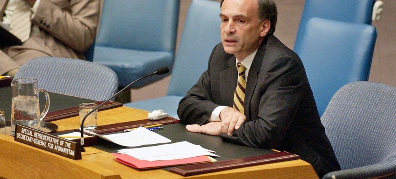 Jean Arnault, jefe de la Misión de la ONU en Colombia en el Consejo de Seguridad. Foto de archivo: ONU/Ryan Brown