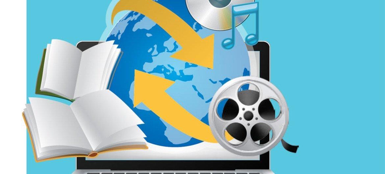 Nuevo informe de la UNESCO muestra un desplazamiento masivo del consumo de películas y música hacia servicios de Internet. Gráfico: UNESCO