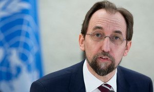 High Commissioner for Human Rights Zeid Ra'ad Al Hussein addresses the 31st regular session of the Human Rights Council in Geneva.