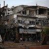 أحد شوارع دوما، في الغوطة الشرقية، سوريا.