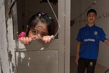 طفلان سوريان في الأردن. المصدر : اليونيسف/ لوسي ليون: