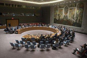 安理会会议现场。联合国图片/Manuel Elias