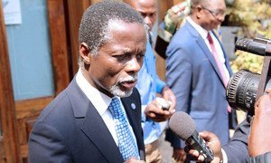 UN Special Representative and head of the UN Multidimensional Integrated Stabilization Mission in the Central African Republic (MINUSCA) Parfait Onanga-Anyanga.