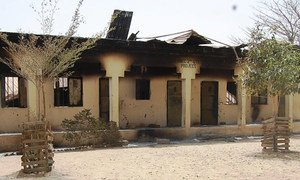 Schools burned by Boko Haram in 2013 in Maiduguri, the capital of Borno state, north-east Nigeria. Violence in the region has claimed over 20,000 lives and thousands of girls, boys, women and men have been abducted by armed groups.