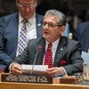 Special Representative and Head of the United Nations Mission in Liberia (UNMIL), Farid Zarif, addresses the Security Council meeting on the situation in that country.