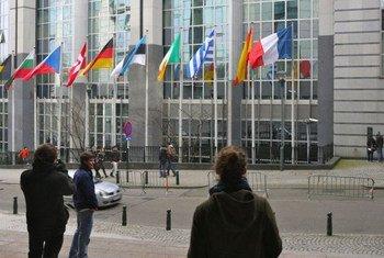 Le siège de l'Union européenne à Bruxelles, en Belgique. Photo : Carmen Cuesta Roca