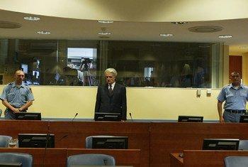 Радован Караджич в суде, июль 2008