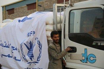 Des camions du PAM chargés de blé, d'huile et de sel au Yémen (archives).