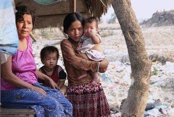 东南亚的一个家庭。人道协调厅图片