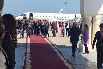Con su parada en Túnez, el Secretario General de la ONU concluye un recorrido por cuatro países de Medio Oriente. Foto: UNIC de Túnez.