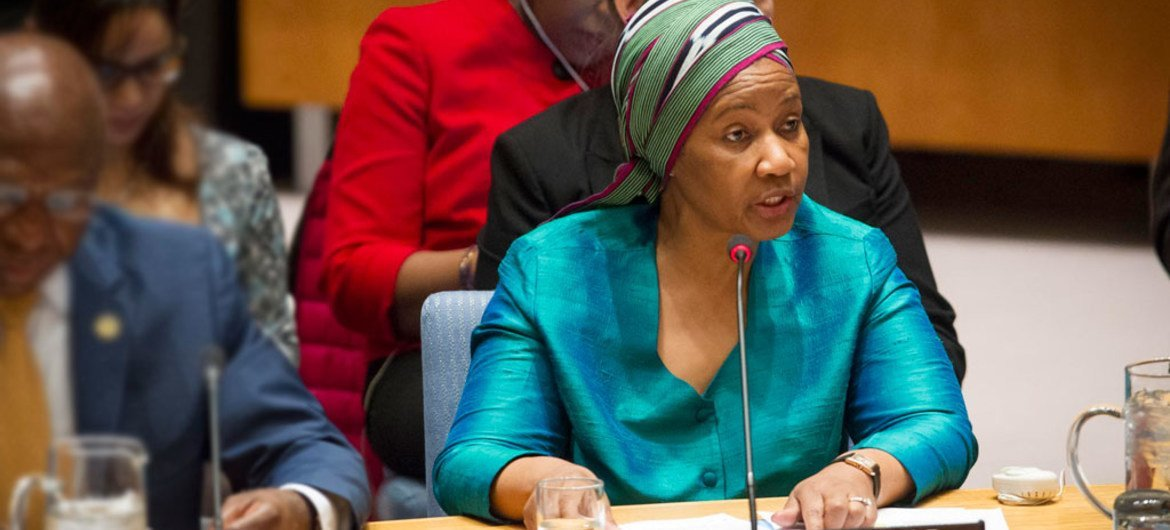 UN Women Executive Director Phumzile Mlambo-Ngcuka address Security Council meeting 'The role of women in conflict prevention and resolution in Africa'.
