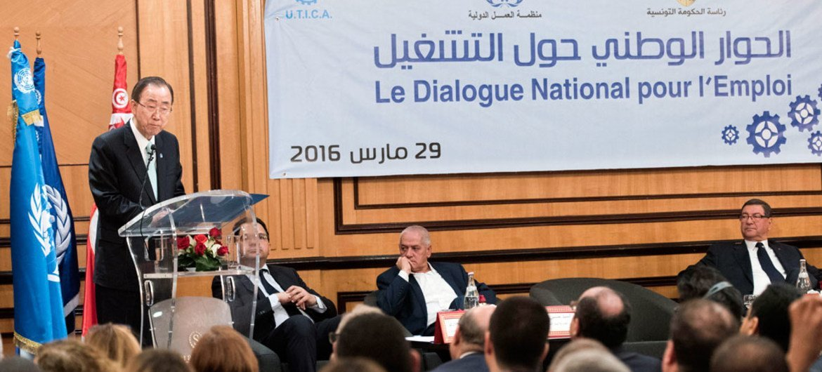 In Tunisia, Ban stresses importance of youth employment in