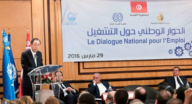 In tunisia ban stresses importance of youth employment in