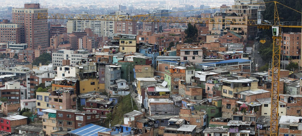 A view of the city of Bogotá, Colombia.