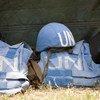 Helmet and Flack Jackets of UN Peacekeepers.