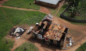 Burned house in Eringeti, eastern Democratic Republic of the Congo (DRC).