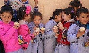 Des écoliers au Liban. Photo PAM/Dina El Kassaby