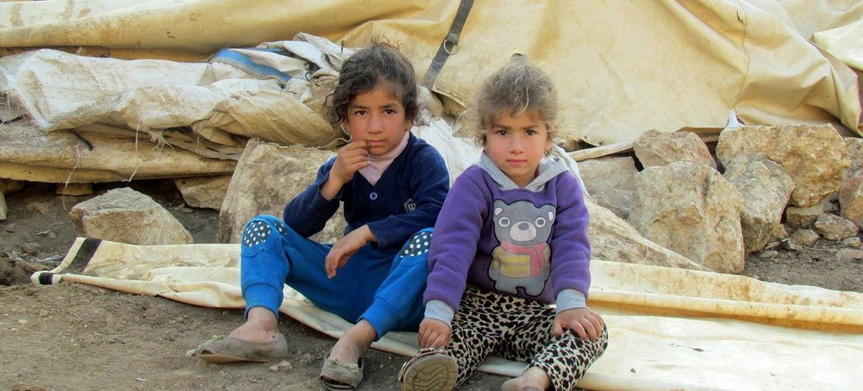 约旦河西岸巴勒斯坦流离失所儿童。人道协调厅图片