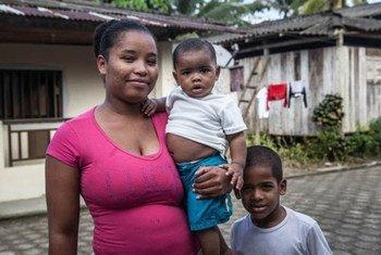 Família em Docordó, na Colombia.