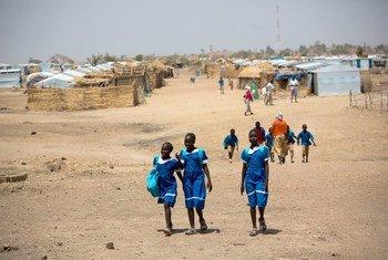 Nigerian refugee children at the Minawao refugee camp in Northern Cameroon.