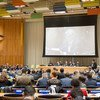 A wide view of the proceedings on informal dialogues with candidates for the position of UN Secretary-General.