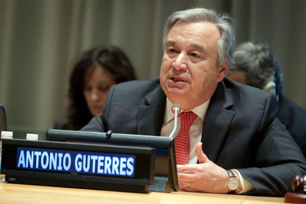 古特雷斯资料图片。联合国图片/Manuel Elias