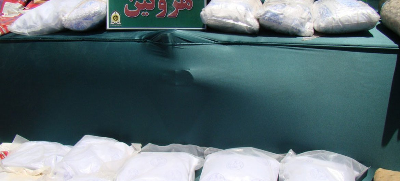 Heroína confiscada. Foto de archivo: UNODC